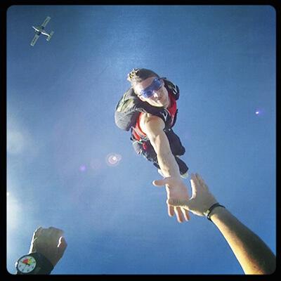 Yann Trocme, moniteur de parachutisme Tallard