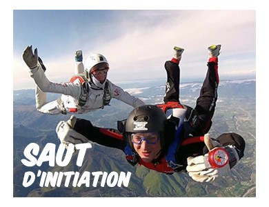 Saut d'initiation parachutisme Tallard Gap